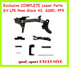 Exclusive Glock 43 Complete Lower Parts 9-MM LPK SS/80 Poly/Mer Kit PF-9