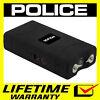 POLICE Stun Gun Mini BLACK 800 350 BV Rechargeable LED Flashlight