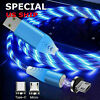Magnetic LED Light Up USB Phone light up Charger Cord For Type C Micro Android
