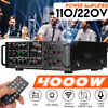 110V 4000W EQ bluetooth 5.0 HiFi Power Amplifier 2 Channel Stereo Home Audio AMP