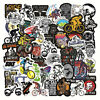 50PCS Mixed Ghost Bicycle Riding Gaming Sticker Skateboard Bicycle Laptop Decal