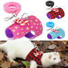 Small Animal Harness Leash Hamster Rabbit Cat Ferrets Squirrel Rat Vest Clothes