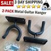 2 Pack Guitar Hook Hangers Wall Mount Stands Electric Bass Ukulele Rack Holder
