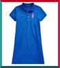 NWT Polo Ralph Lauren Big Girls Polo Bear Stretch Mesh Polo Dress M L XL