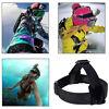 Adjustable Head Strap For Go Pro Camera 2 3 3+ 4 Elastic Mount Ski Hat K1