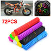 72pcs Spoke Wraps Skins Cover Protection Wheel Rim Guard Dirt Bike Motorcycle