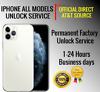 AT&T USA PREMIUM SPEED FACTORY UNLOCK SERVICE ATT FOR IPHONE X XS 8 7 SE 6 5 ALL